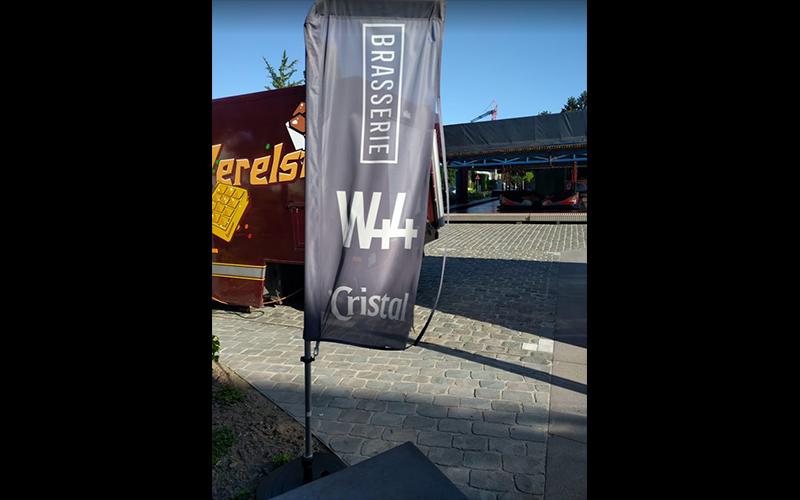 Beachvlag van Brasserie W44